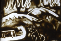 Бекиш София рисовала по мотивам саамских сказок.