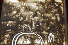 Артем Левашов и Милена Малюкова рисовали А.Сент Экзюпери «Маленький принц».