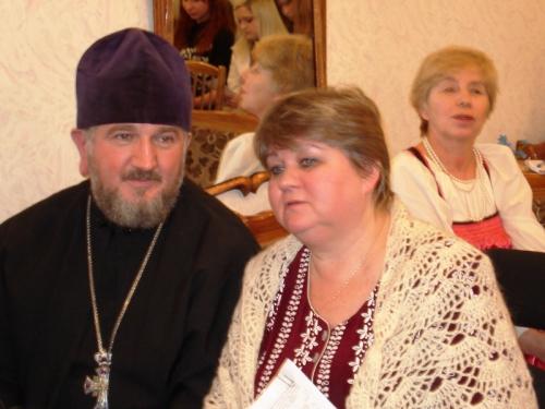 Протоиерей Иоанн Баюр, настоятель Свято-Вознесенского кафедрального собора, Н.Большакова, писатель - на Масловских чтениях
