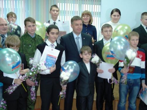 Староверов Д.Г., Глава муниципального образования города Мончегорска - на Празднике вручения первого паспорта